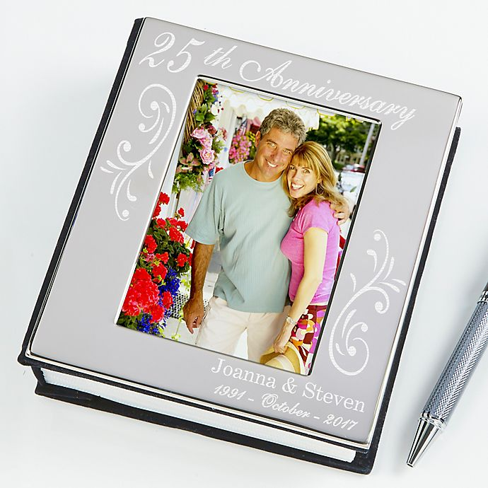 Alternate image 1 for Anniversary Memories Silver Engraved Photo Album