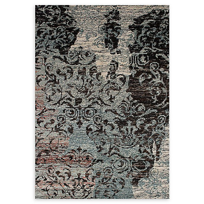 Alternate image 1 for ECARPETGALLERY One of a Kind Sari Silk 5'2 x 7'6 Area Rug in Black/Grey