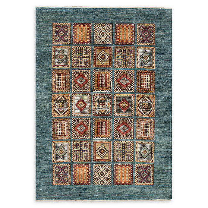 Alternate image 1 for ECARPETGALLERY Aryana 5'10 x 8'6 Hand-Knotted One of a Kind Rug in Turquoise
