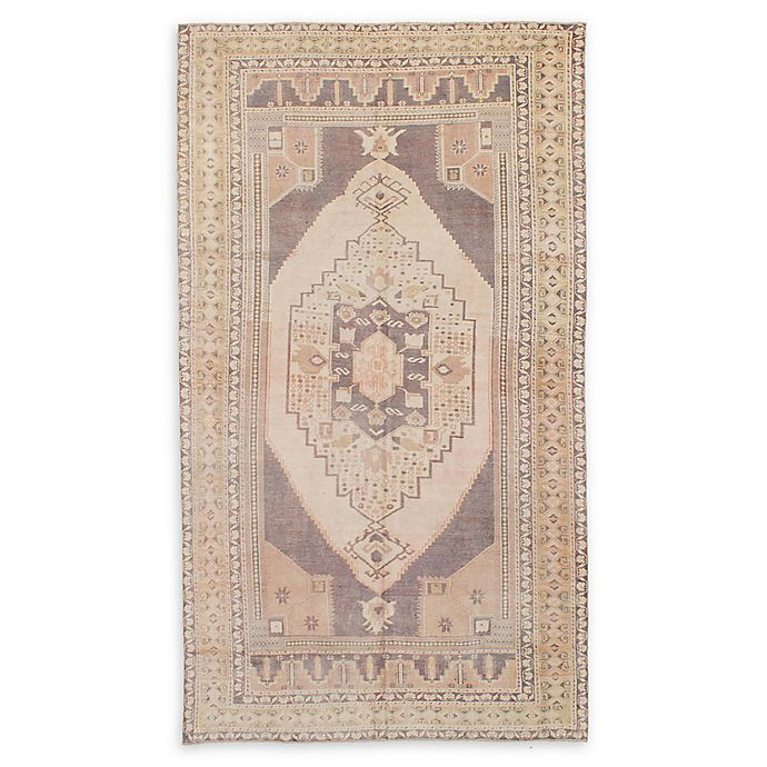 Alternate image 1 for ECARPETGALLERY Antalya 4' x 8'3 Hand-Knotted One of a Kind Rug in Vintage Cream/Grey