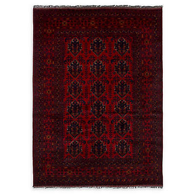 ECARPETGALLERY Khal Mohammadi 5'7 x 7'11 Hand-Knotted One of a Kind Rug in Red