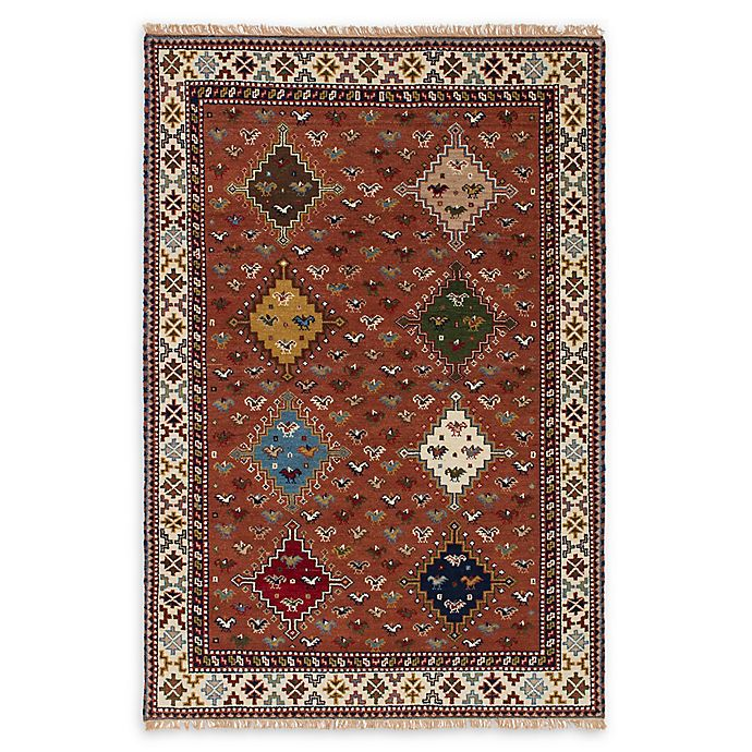 Alternate image 1 for ECARPETGALLERY One of a Kind Royal Kazak 5'1 x 7'5 Hand-Knotted Rug in Dark Copper