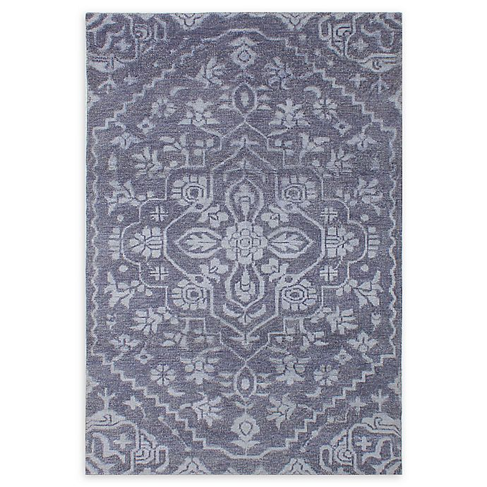 Alternate image 1 for ECARPETGALLERY One of a Kind Eternity 5' x 7'6 Hand-Knotted Area Rug in Dark Grey