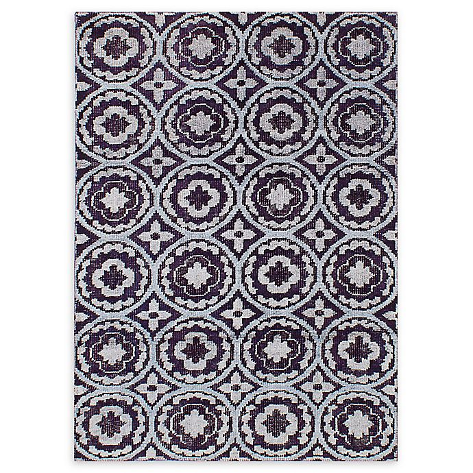 Alternate image 1 for ECARPETGALLERY La Seda Hand-Knotted 4'6 x 6'5 One of a Kind Rug in Indigo