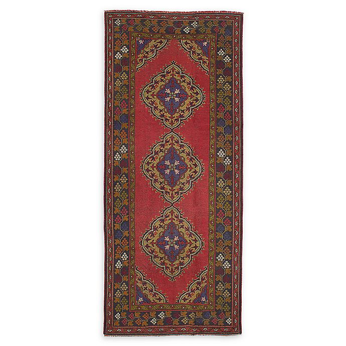 Alternate image 1 for ECARPETGALLERY Konya Anatolian 4'8 x 11'4 Hand-Knotted One of a Kind Rug in Red