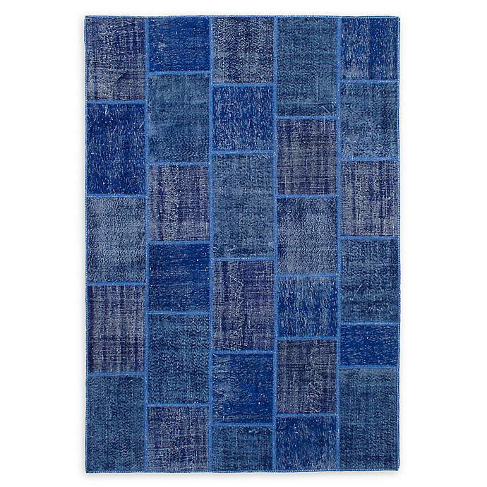 Alternate image 1 for ECARPETGALLERY Transition Patch 6'7 x 9'10 Hand-Knotted One of a Kind Rug in Blue