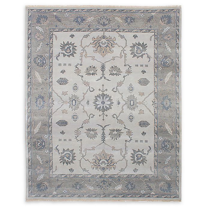 Alternate image 1 for ECARPETGALLERY Finest Ushak Hand-Knotted 8' x 9'11 One of a Kind Rug in Light Grey