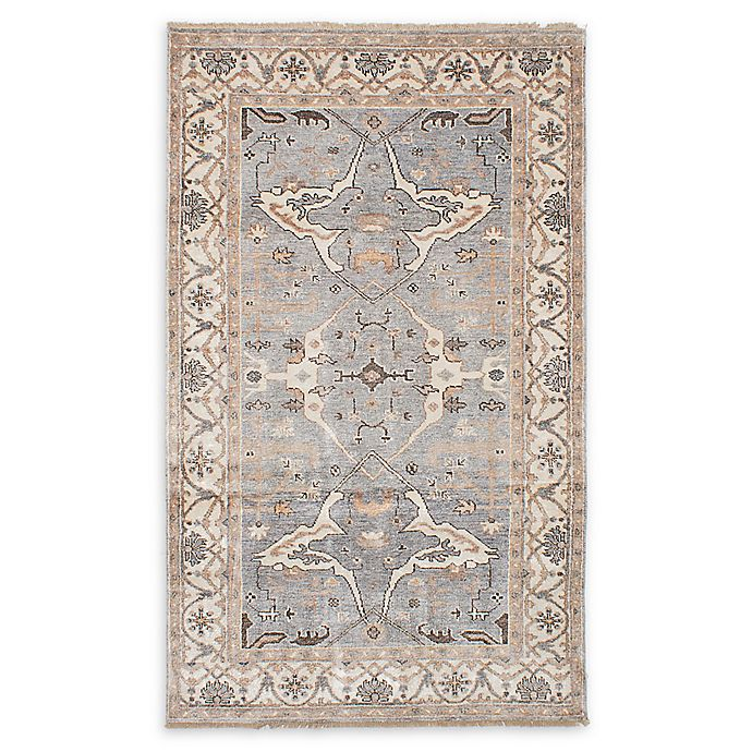 Alternate image 1 for ECARPETGALLERY Jules Ushak 4'10 x 8'2 Hand-Knotted One of a Kind Rug in Grey