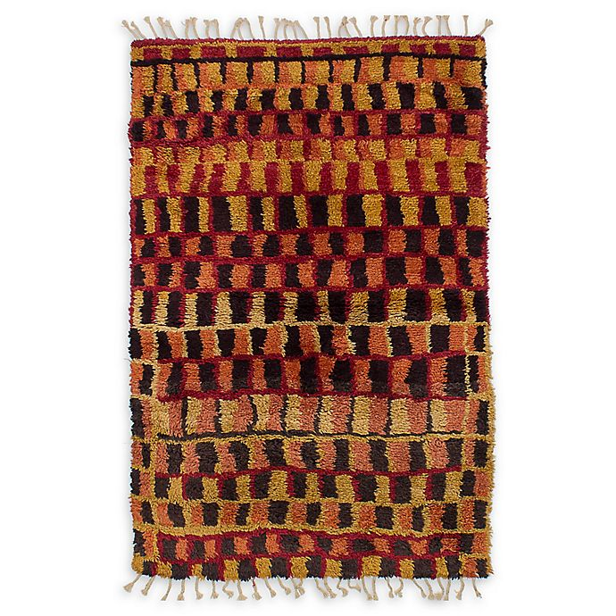 Alternate image 1 for ECARPETGALLERY Royal Maroc Hand-Knotted 5'6 x 8' One of a Kind Rug in Red