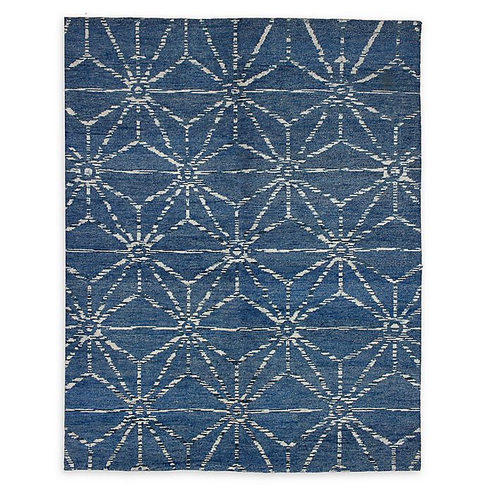 Alternate image 1 for ECARPETGALLERY Eternity 7'9 x 9'9 Hand-Knotted One of a Kind Rug in Dark Blue