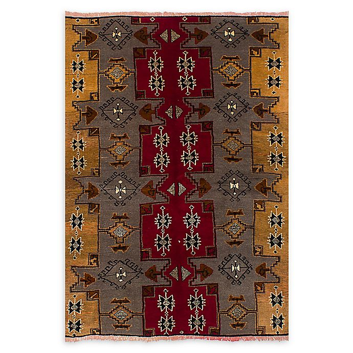 Alternate image 1 for ECARPETGALLERY Anatolian Konya Hand-Knotted 5'2 x 7'5 One of a Kind Rug in Red/Grey