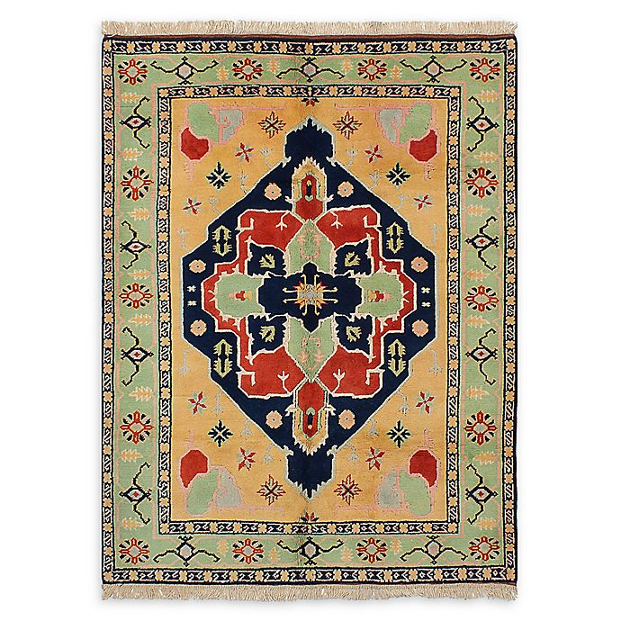 Alternate image 1 for ECARPETGALLERY Anatolian Konya Hand-Knotted 5'7 x 7'8 One of a Kind Rug in Copper/Green