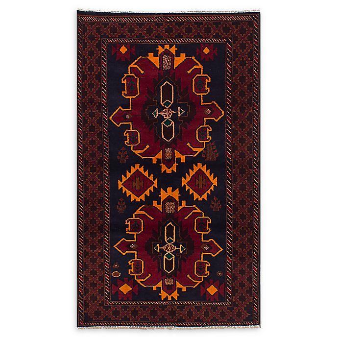 Alternate image 1 for ECARPETGALLERY Kazak 3'6 x 6'4 One of a Kind Rug in Dark Navy/Red