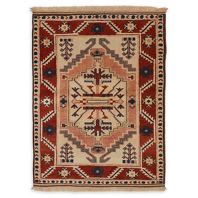 Alternate image 1 for ECARPET GALLERY Antique Shiravan 4'0 x 5'3 One of a Kind Rug in Red/Salmon