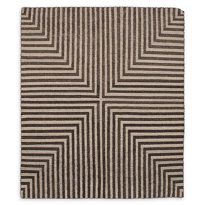 Alternate image 1 for ECARPETGALLERY Kilim Izmir 6'8 x 7'11 One Of A Kind Rug in Dark Brown/Khaki