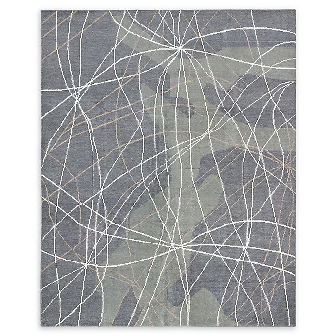 Alternate image 1 for ECARPETGALLERY Joshua Dhurries 7'11 x 9'11 One of a Kind Rug in Dark Grey