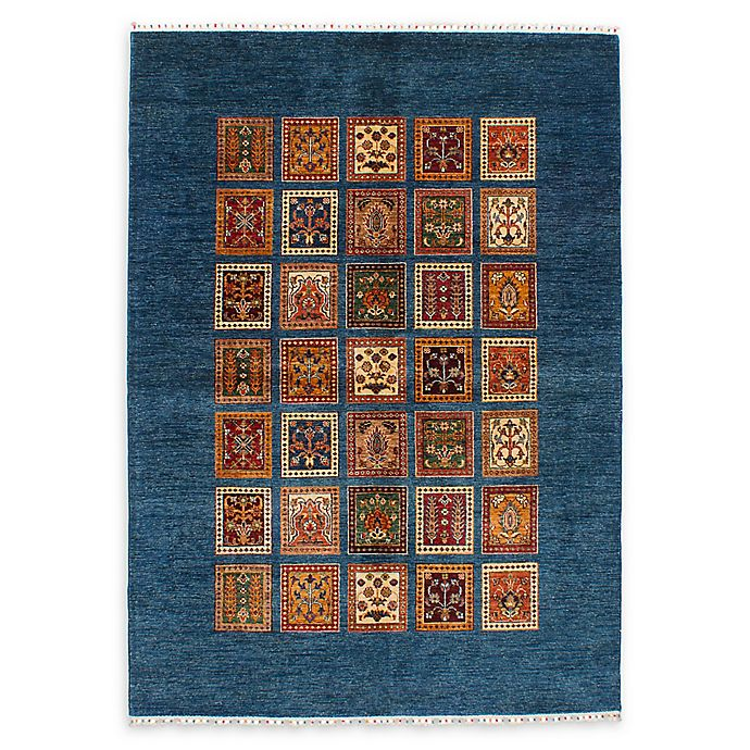 Alternate image 1 for ECARPETGALLERY Aryana 5'7 x 8'1 Hand-Knotted One of a Kind Rug in Dark Blue