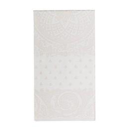 Caspari Jacquard Linen 12-Count Paper Guest Towels in White