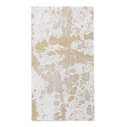 Caspari Splatterware 15-Count Paper Guest Towels in Gold/White