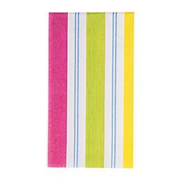 Caspari Awning Stripe Brights 15-Count Paper Guest Towels