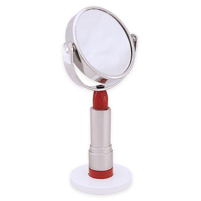 Alternate image 1 for Taymor® Mini Lipstick 3x Vanity Mirror in Silver