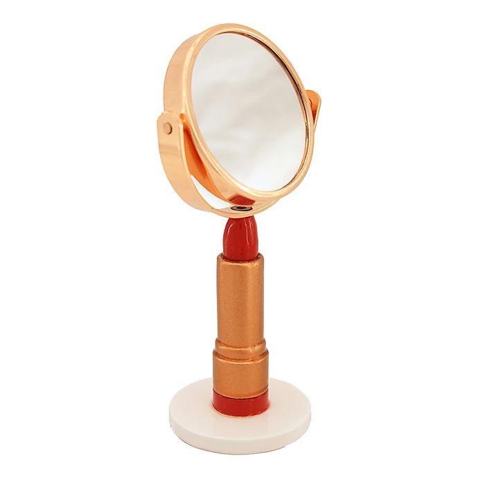 Alternate image 1 for Taymor® Mini Lipstick 3x Vanity Mirror in Gold