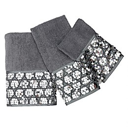 Popular Bath Sinatra 3-Piece Bath Towel Set in Silver