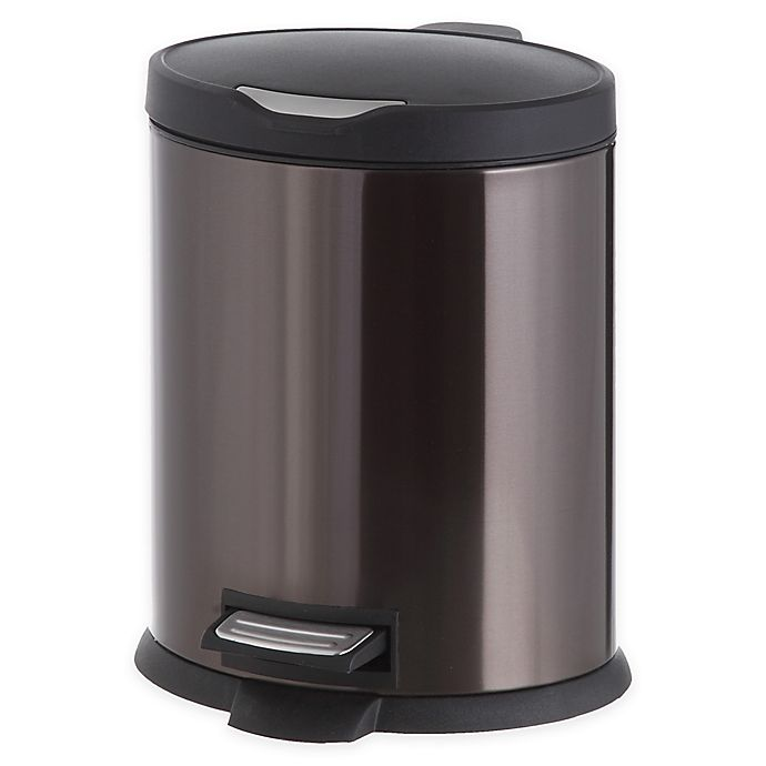 Alternate image 1 for Stainless Steel 5-Liter Step-On Trash Can