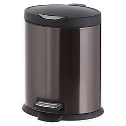 Stainless Steel 5-Liter Step-On Trash Can