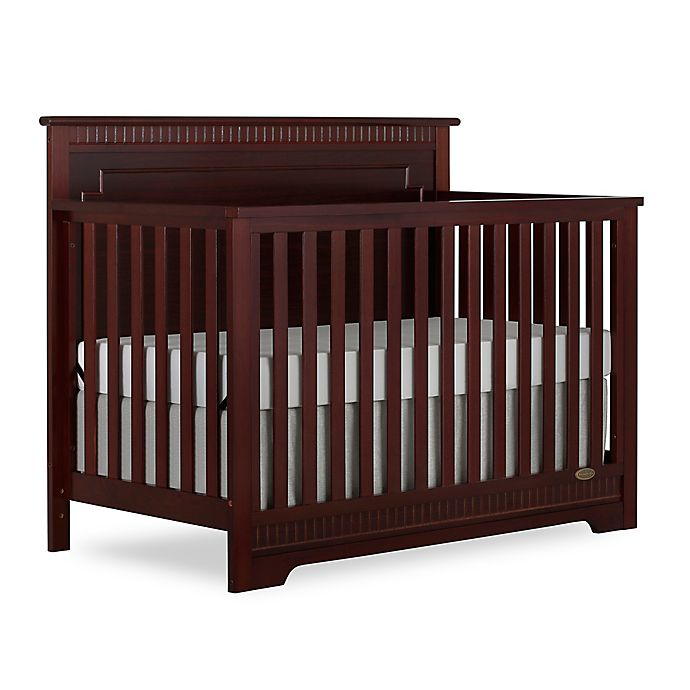 Alternate image 1 for Dream On Me Morgan 5-in-1 Convertible Crib in Cherry