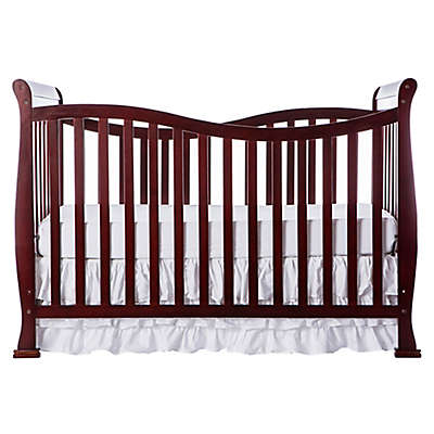 Dream On Me Violet 7-in-1 Convertible Crib in Cherry