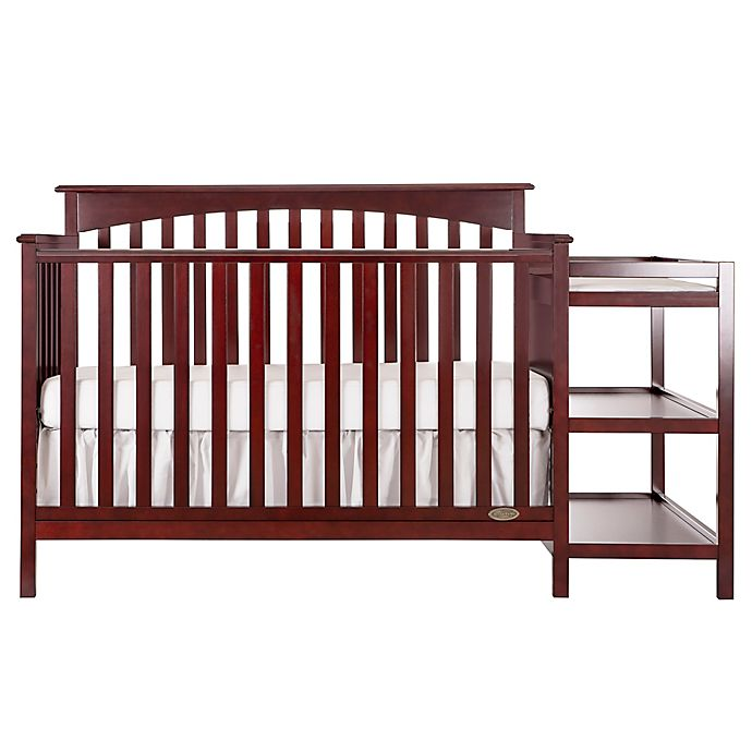 dream on me chloe 5 in 1 convertible crib and changing table combo in cherry buybuy baby. Black Bedroom Furniture Sets. Home Design Ideas