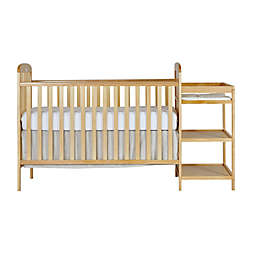 Dream On Me Anna 4-in-1 Convertible Crib and Changing Table Combo in Natural