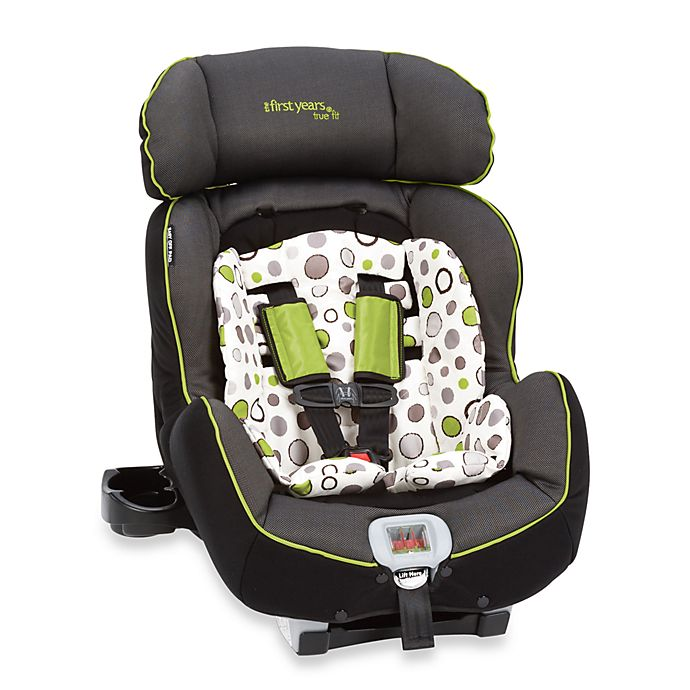 The First Years True Fit Recline Convertible Car Seat Abstract Os Black And Green