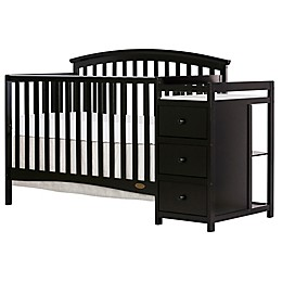 Dream On Me Niko 5-in-1 Convertible Crib and Changer in Black