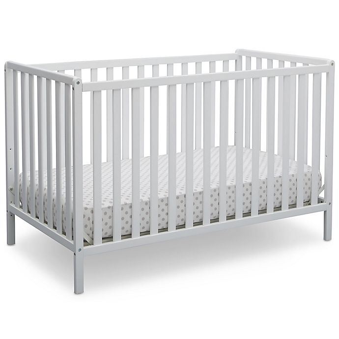Alternate image 1 for Delta Heartland 4-In-1 Convertible Crib in White