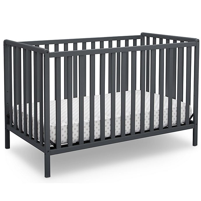 Alternate image 1 for Delta™ Heartland 4-In-1 Convertible Crib in Grey
