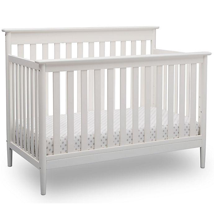 Alternate image 1 for Delta Children Greyson Signature 4-In-1 Convertible Crib in White
