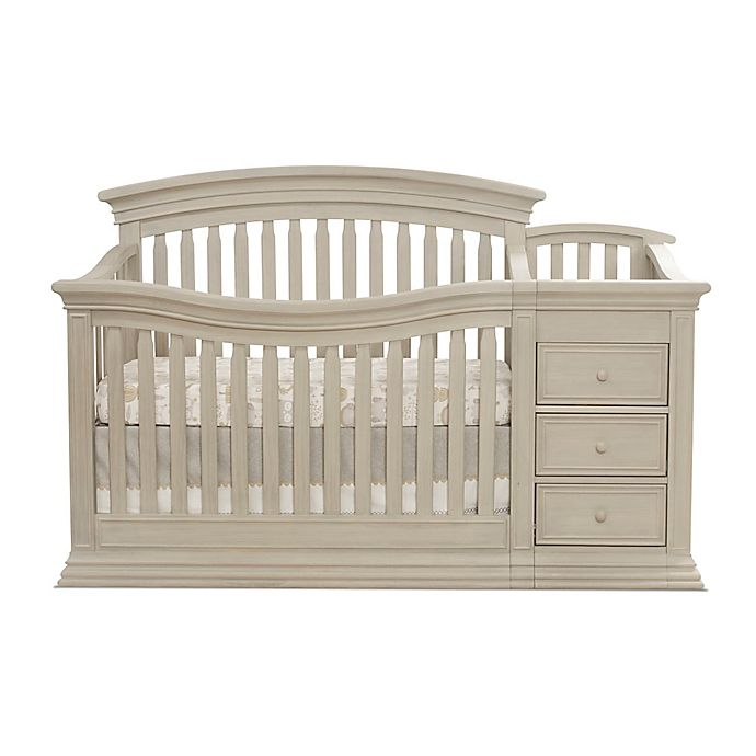 Sorelle Sedona 4 In 1 Convertible Crib And Changer In Rustic Taupe