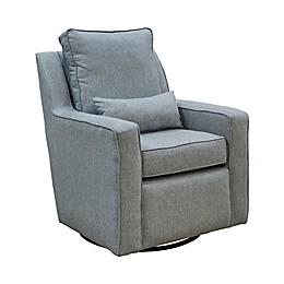 The 1st Chair™ Ellis Swivel Glider Chair in Greyhound