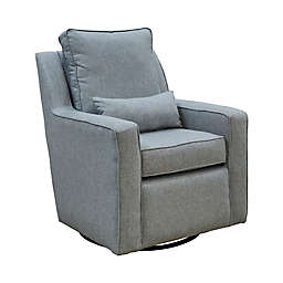 The 1st Chair™ Ellis Swivel Glider Chair in Greyhound