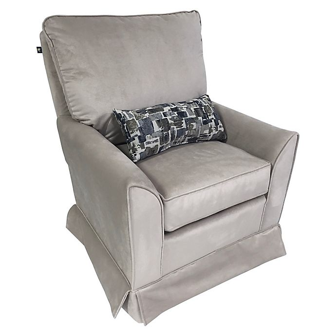 Swell The 1St Chair Taylor Swivel Glider Chair In Baby Grey Bed Machost Co Dining Chair Design Ideas Machostcouk