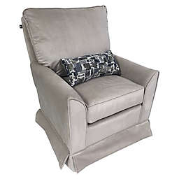 The 1st Chair™ Taylor Swivel Glider Chair in Baby Grey