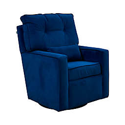 The 1st Chair™ Venus Swivel Glider Chair in Hazy Indigo