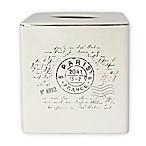 Postale Boutique Tissue Box Cover in White