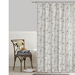 Postale Tower Print Shower Curtain Collection