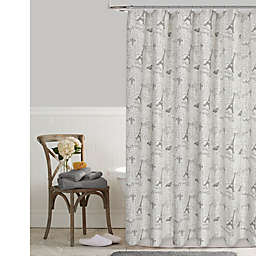 Postale Tower Print Shower Curtain