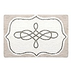 Postale Bath Mat in White/Grey