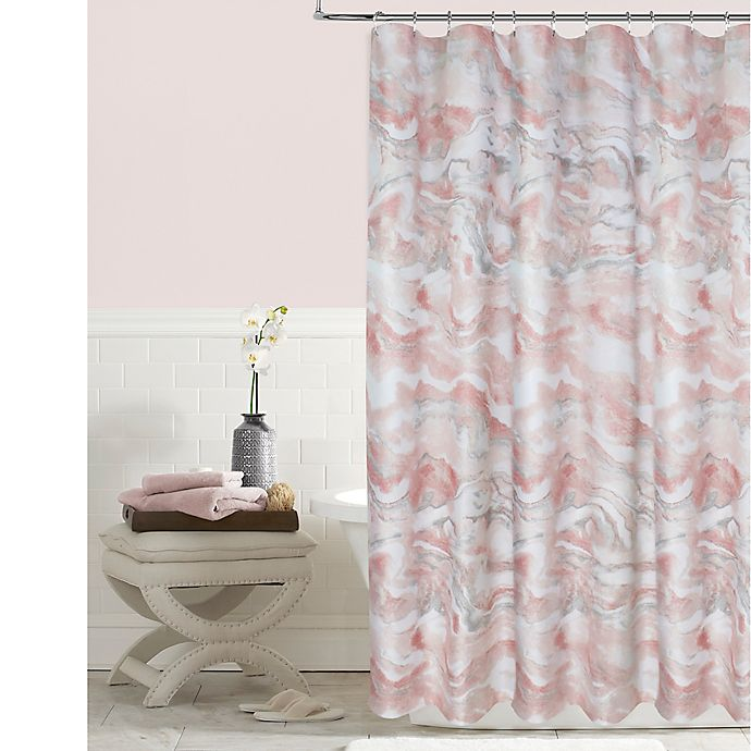 Colordrift Marble Shower Curtain In Blush Bed Bath Amp Beyond