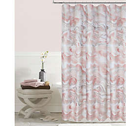 Marble Shower Curtain In Blush